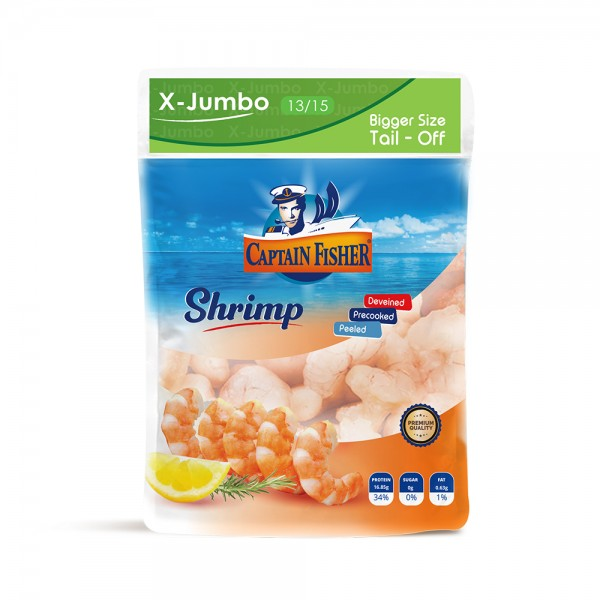Captain Fisher Shrimp Cooked X Jumbo 13.15 Pd T Off 521946-V001 by Captain Fisher