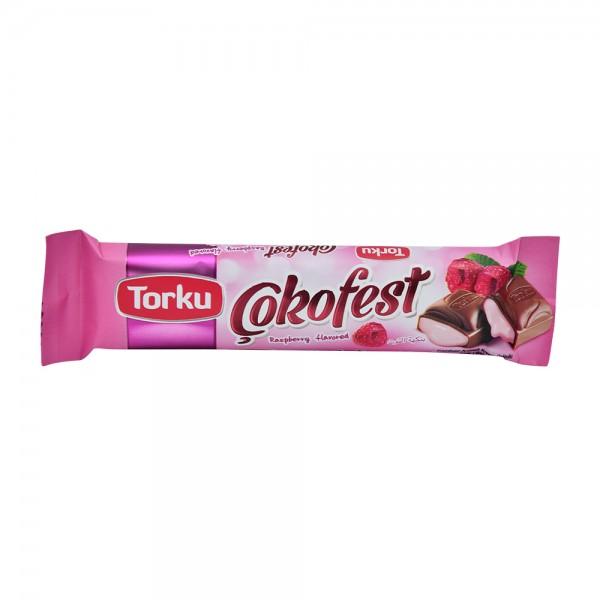 TORKU Raspberry Cream milk Chocolate bar 35g 522213-V001 by Torku