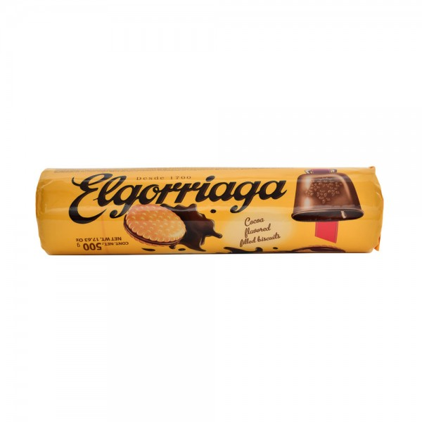 Elgorriaga Cocoa Flavored Filled Biscuit - 500G 522456-V001 by Elgorriaga