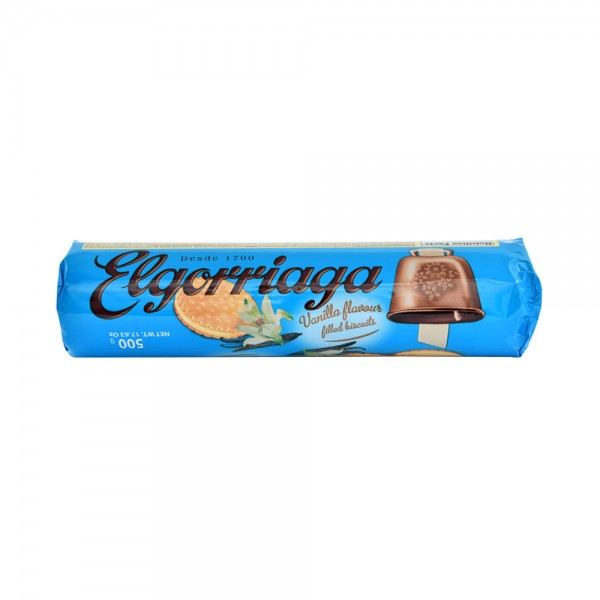 Elgorriaga Vanilla Flavored Filled Biscuit - 500G 522458-V001 by Elgorriaga