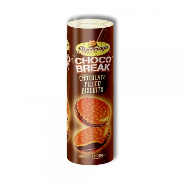 CHOCOBREAK COCOA BISCUIT WITH CHOCO CREAM FILLE 522459-V001 by Elgorriaga