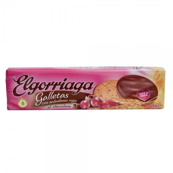 Elgorriaga Cramberries Biscuit Dipped In Chocolate - 150G 522461-V001 by Elgorriaga