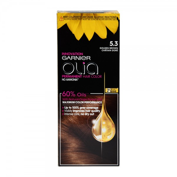 Garnier Olia 5.3 Golden Brown Permanent Hair Dye 1 Piece 522612-V001 by Olia by Garnier