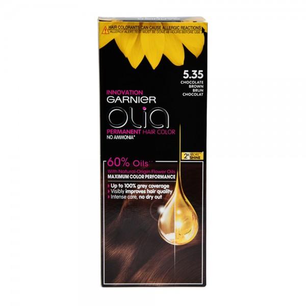 Garnier Olia 5.35 Chocolate Brown Permanent Hair Dye 1 Piece 522613-V001 by Olia by Garnier