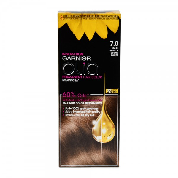 Garnier Olia 7.0 Dark Blonde Permanent Hair Dye 1 Piece 522616-V001 by Olia by Garnier