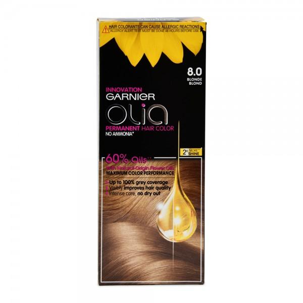 Garnier Olia 8.0 Blonde Permanent Hair Dye 1 Piece 522618-V001 by Olia by Garnier