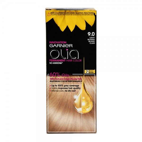 Garnier Olia 9.0 Light Blonde Permanent Hair Dye 1 Piece 522619-V001 by Olia by Garnier