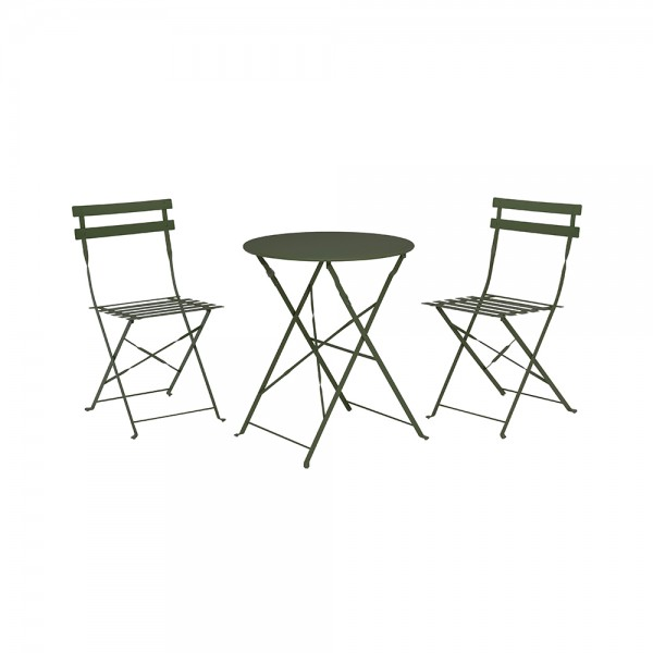 BISTRO SET METAL MAT GREEN 522743-V001 by Home Collection