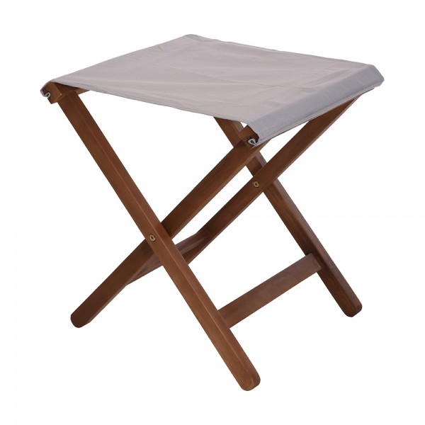Folding Stool Acacia Wood - 39X46Cm 522754-V001 by Home Collection