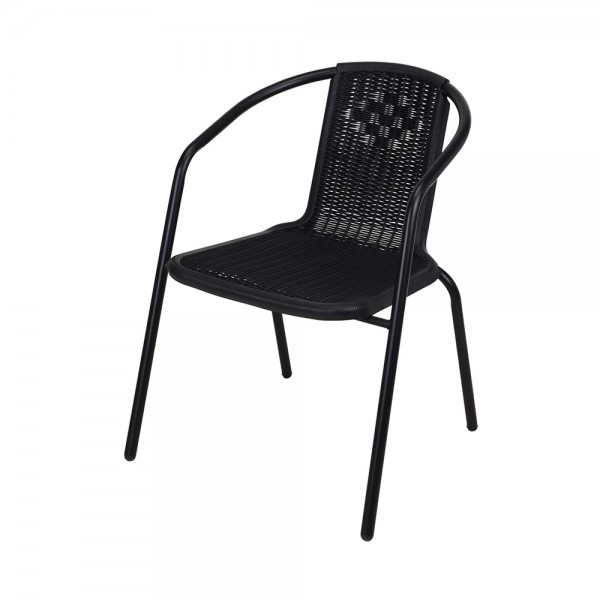 CHAIR STACKABLE METAL PP SITTING 120KG 522766-V001 by EH Excellent Houseware