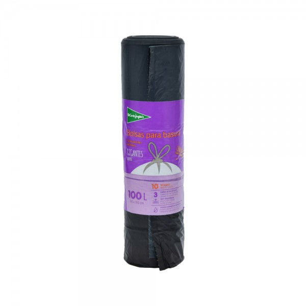 El Corte Grey Self Sealing Bin Liners 85X105 100L Roll 522826-V001 by El Corte