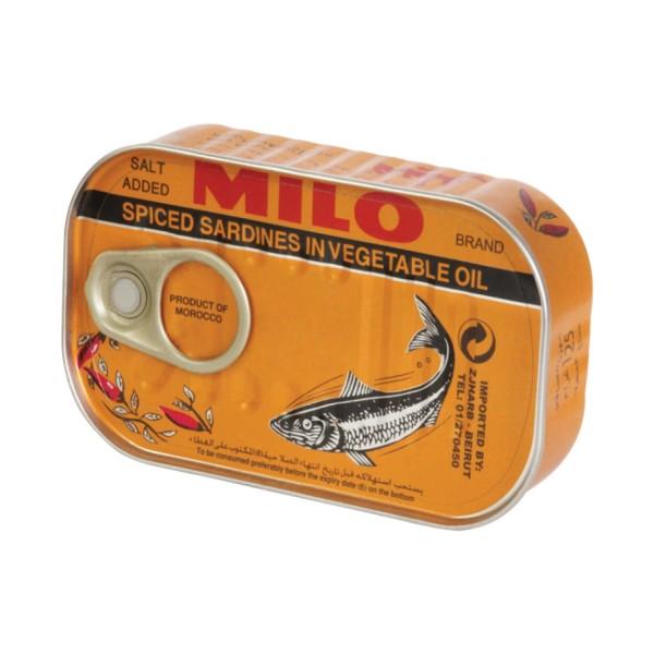 Milo Spiced Sardines in Vegetable Oil 522909-V001 by Milo