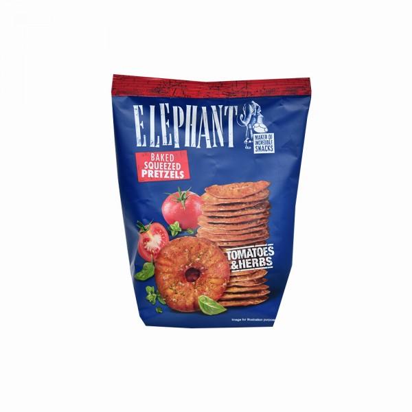 Elephant Pretzel Discs Tomatoes+Herbs - 70G 523010-V001 by Elephant
