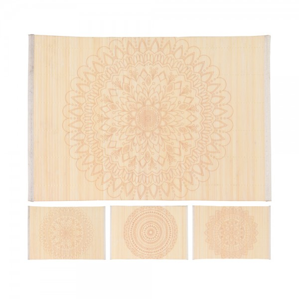Eh Placemat Bamboo 3 Assorted - 30X45Cm 523065-V001 by EH Excellent Houseware