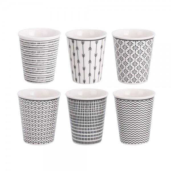 Eh Coffee Cup Porcelain Set 90Cc - 6Pc 523067-V001 by EH Excellent Houseware