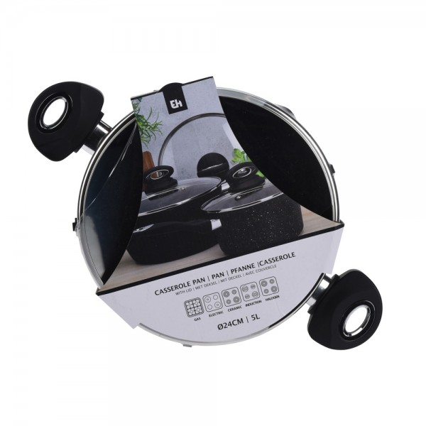 Eh  Cooking Pot Granit 5L - 24Cm 523119-V001 by EH Excellent Houseware
