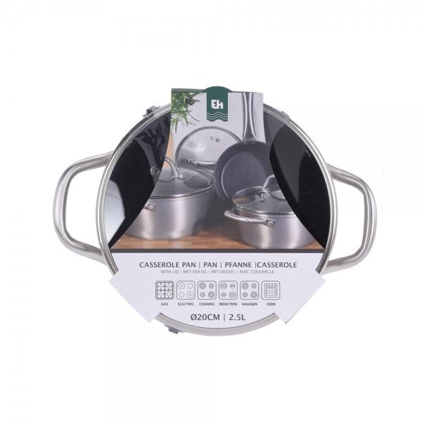 Eh  Cooking Pot Silver Wave 2.5L - 20Cm 523125-V001 by EH Excellent Houseware