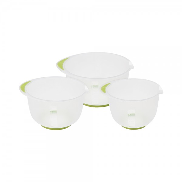 MIXING BOWL SET PLSTC 2 ASSORTED 2.5 2 1.5L 523143-V001 by EH Excellent Houseware