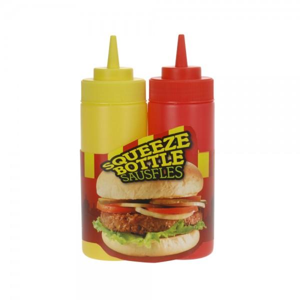Eh  Sauce Dispenser Plastic Set - 2Pc 523148-V001 by EH Excellent Houseware