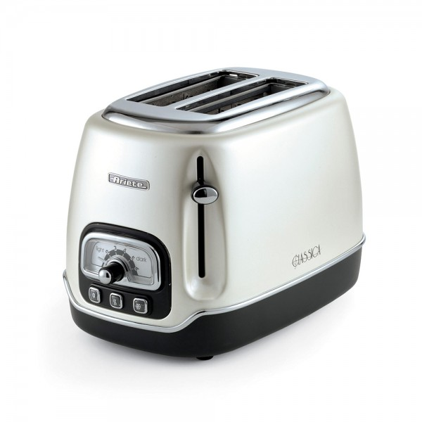 Ariete Classic Toaster 2Slices Vintage Pearl - 815W 523342-V001 by Ariete