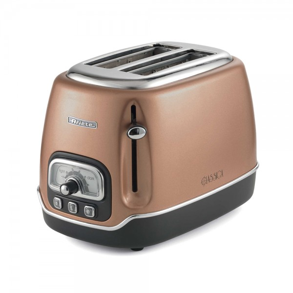 Ariete Classic Toaster 2Slices Vintage Copper - 815W 523343-V001 by Ariete
