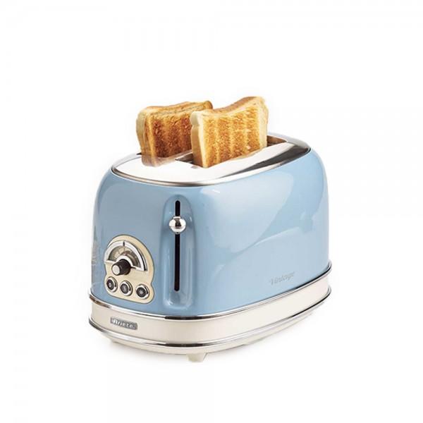 Ariete Vintage Toaster 2 Slices Blue - 815W 523349-V001 by Ariete