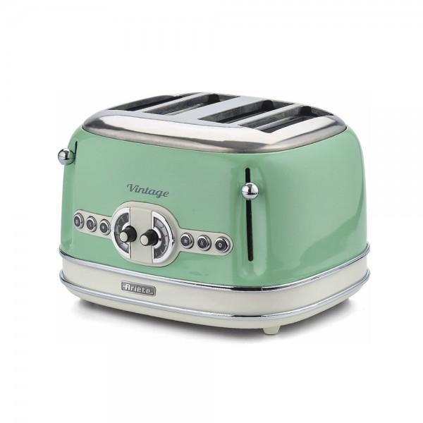 Ariete Vintage Toaster 4 Slices Green 523351-V001 by Ariete