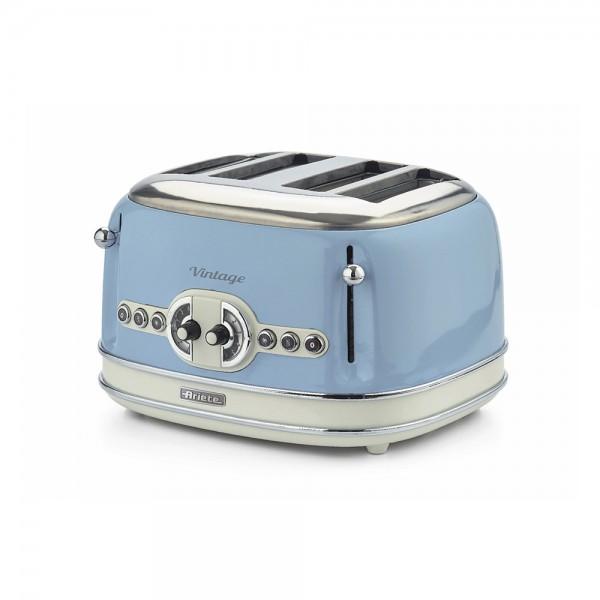 Ariete Vintage Toaster 4 Slices Blue - 1630W 523352-V001 by Ariete