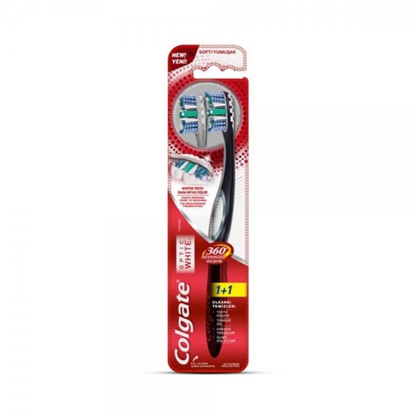 Colgate 360 Optic White Advanced Whitening Toothbrush, Value Pack 2pk 523480-V001 by Colgate