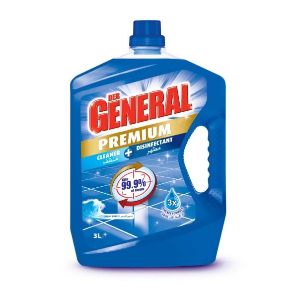 DER GENERAL Premium Cleaner + Disinfectant Ocean Breeze 3L 523492-V001 by Der General