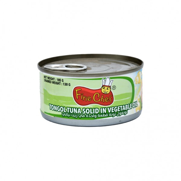 Fine Chef Canned Tongol Tuna Solid In Vegetable Oil  - 185G 523513-V001 by Fine Chef
