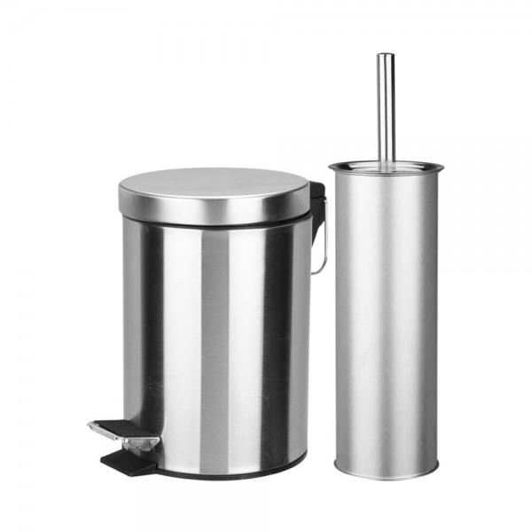 BATHROOM SET STAINLESS STEEL 523590-V001 by Bathroom Solutions