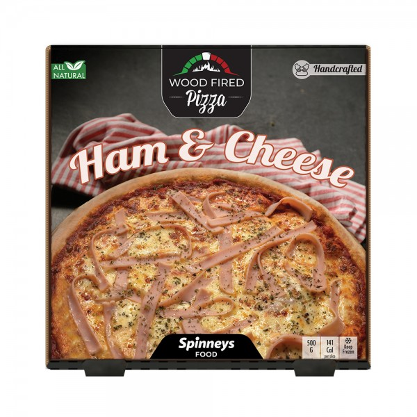 Wood Fired Cheese & Ham Pizza 523866-V001 by Spinneys Food