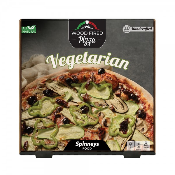 Wood Fired Vegetarian Pizza 523868-V001 by Spinneys Food