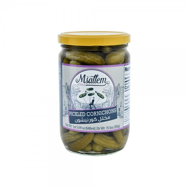Msallem Cornichon Pickles Jar 524321-V001 by Msallem Foodtech