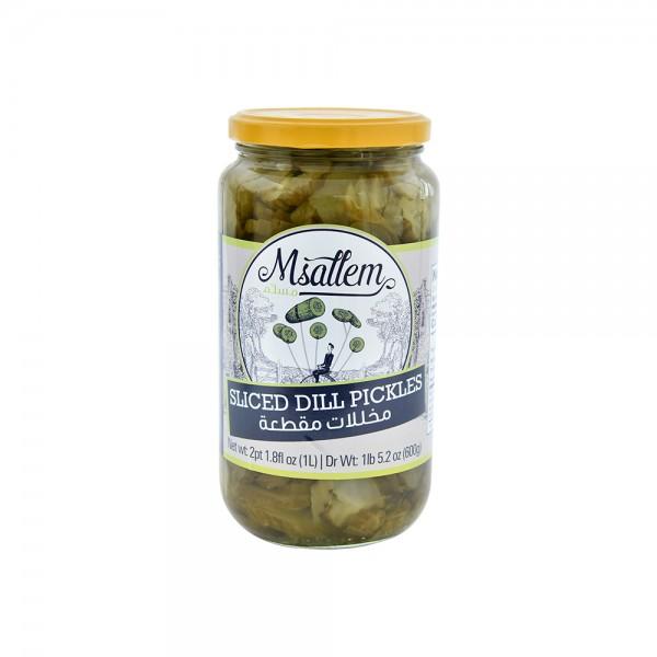 Msallem Sliced Dill Pickles Jar 1L 524325-V001 by Msallem Foodtech