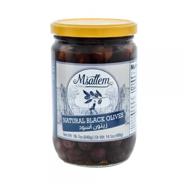 Msallem Black Olives Jar 640G 524326-V001 by Msallem Foodtech