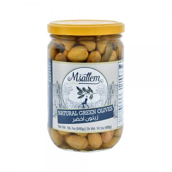 Msallem Green Olives Jar 640G 524327-V001 by Msallem Foodtech