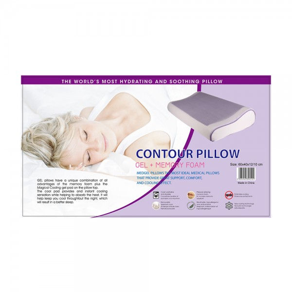 Memory Foam Countour Gel Pillow, 60x40cm 524539-V001 by Home Collection