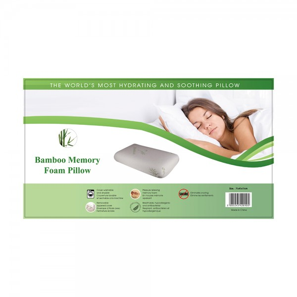 Bamboo Memory Foam Traditional Pillow, 71x41cm 524542-V001 by Home Collection