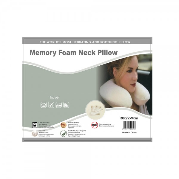 Memory Foam Neck Pillow, 30x29cm 524544-V001 by Home Collection