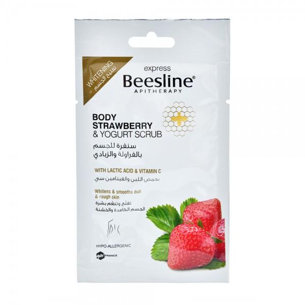 Beesline Apitherapy Express Body Strawberry & Yogurt Scrub 25G 524665-V001 by Beesline