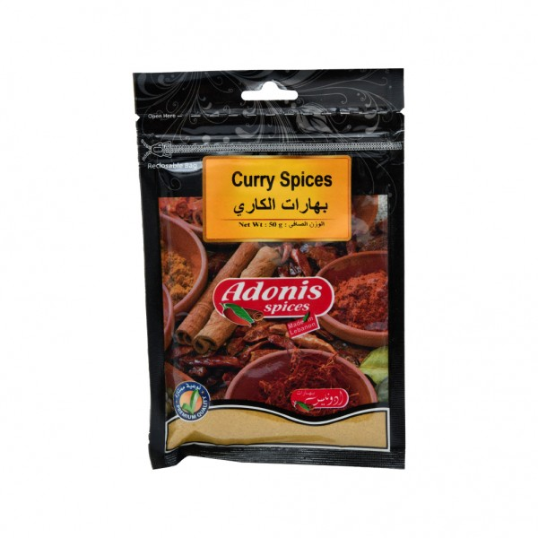 Adonis Curry Powder Medium  - 50G 524877-V001 by Adonis Spices