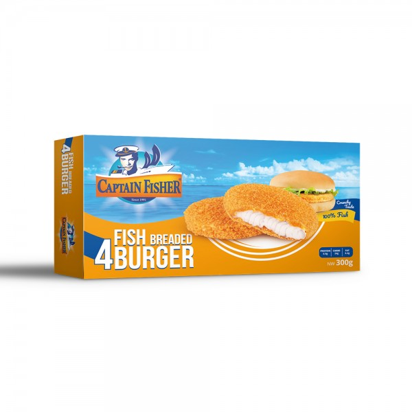 Captain Fisher Fish Burger Breaded (4Pcs) 524930-V001 by Captain Fisher