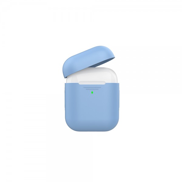 Promate Slim Silicon Case For Apple Airpods Blue - 1Pc 525232-V001 by Promate
