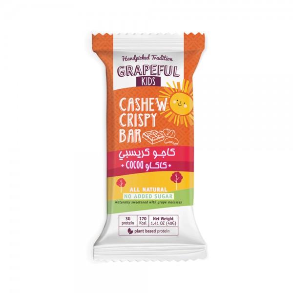 GRAPEFUL Kids Cashew Crispy Bar Cocoa 40G 525682-V001 by Grapeful