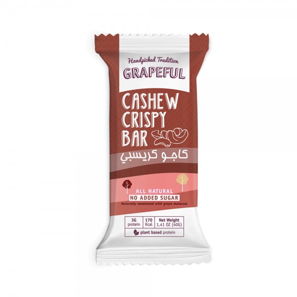 GRAPEFUL Cashew Crispy Bar 40G 525683-V001 by Grapeful