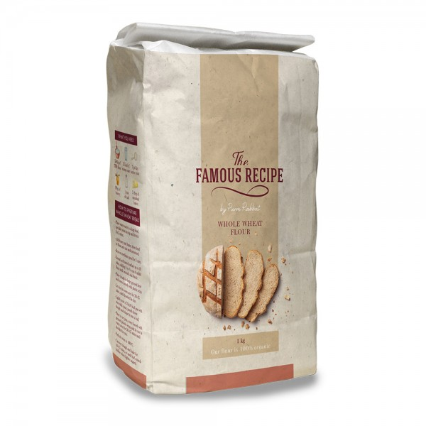 THE FAMOUS RECIPE Whole Wheat Flour 1kg 525691-V001 by The Famous Recipe