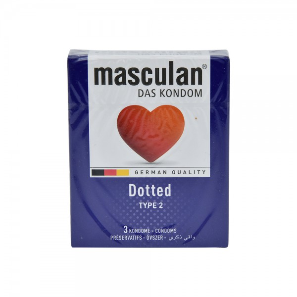 Masculan Condom Dotted - 3Pc 526039-V001 by Masculan