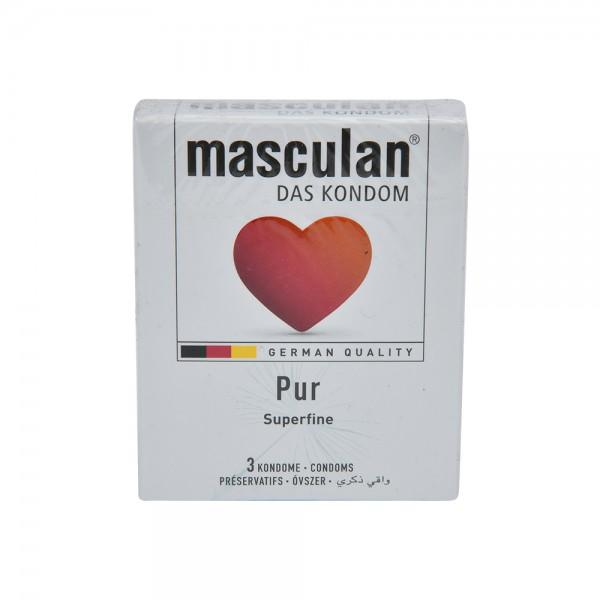 Masculan Condom Pur - 3Pc 526045-V001 by Masculan